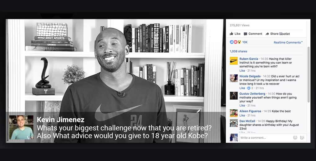 Kobe Bryant Facebook Live Stream