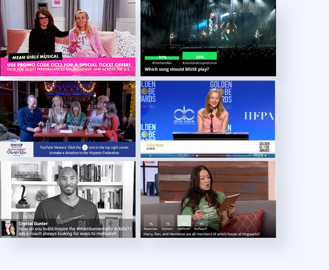 Multiple live streams including Mean Girls, Fantastic Beaasts and Where to FInd Them, Kobe Bryant.